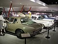"Studebaker National Museum May 2014 086 (Avanti ""No. 9"", Golden Hawk 400, and Lark).jpg"