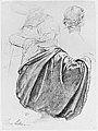 Studies of a Draped Female Figure, Kneeling, Seen from the Back, for the East Transept of the Chruch of Sainte-Clothilde, Paris MET 266207.jpg