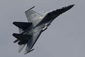 Sukhoi Su-30MKM - Su-30MKM seen manoeuvring at LIMA