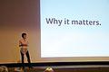 Sue Gardner keynote, Wikimania 2013 1.jpg