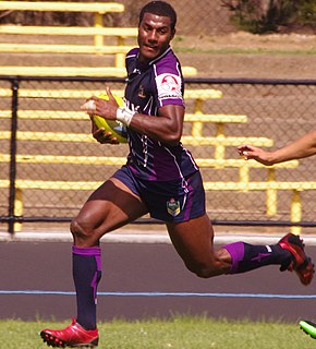 Suliasi Vunivalu Fijian rugby union and rugby league footballer