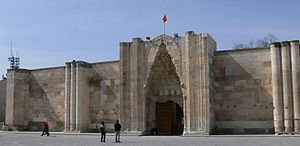 Inn - Facade of the Sultanhani caravanserai in Turkey
