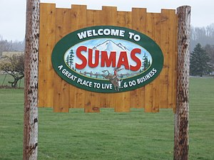 Sumas, Washington - Image: Sumas Sign