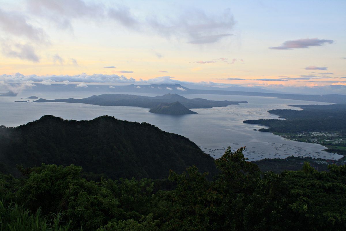 Sunrise on Mt. Taal and Mt. Tabaro June 2012 by Steven Rascoe.JPG