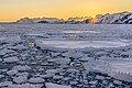 Sunset over drift ice (34281559366).jpg
