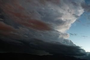Supercell - A supercell thunderstorm over Pikes Peak as seen from Palmer Park