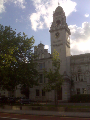 Royal Borough of Kingston upon Thames - Image: Surrey County Hall Clock Tower