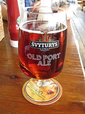 Copper ale - Svyturys Old Port Ale is a Scottish ale that has a copper color