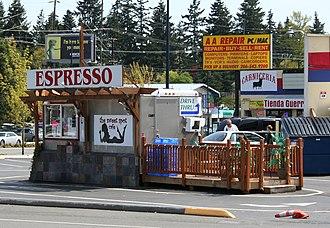 Bikini barista - The Sweet Spot Cafe in Shoreline, Washington