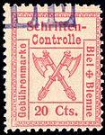 Switzerland Biel Bienne 1902 revenue 20c - 9.jpg