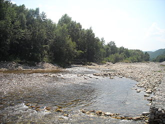 Sânpetru Formation - Sibișel River (Strei) near the Sânpetru Mesozoic Formation