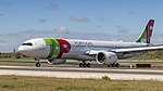 TAP A330-900NEO just arrived at Lisbon airport (40589888703).jpg