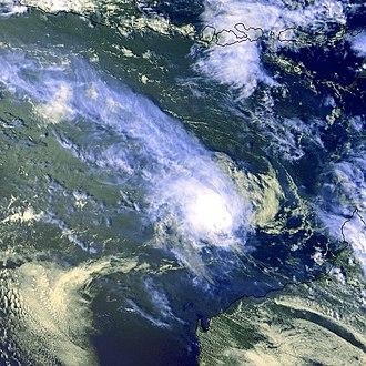 1999–2000 Australian region cyclone season - Image: TC Ilsa 16 dec 1999 0732Z