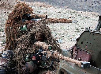 Sniper - French Foreign Legion snipers using the Hecate II (front) and the FR-F2 (rear) in Afghanistan