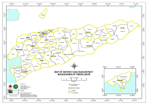 Administrative posts of East Timor - Administrative posts of East Timor