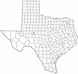 Location of Sterling City, Texas