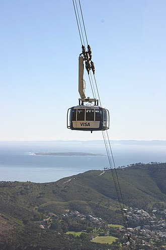 Table Mountain Aerial Cableway - Image: Table mountain cable car 2006 01