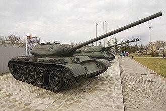 T-54/T-55 operators and variants - T-54-1 in Verkhnyaya Pyshma war museum in Russia.