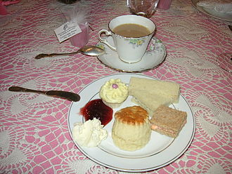 Baby shower - Cake and finger foods are often served at baby showers.