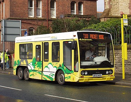 Battery-electric minibus in St Helens