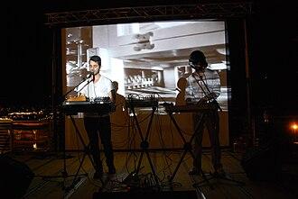 Telefon Tel Aviv - Joshua Eustis and Fredo Nogueira in Trento (June 2009).