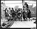 Ten women on deck of the Chilean naval vessel GENERAL BAQUEDANO in Circular Quay, July 1931 (6984193610).jpg