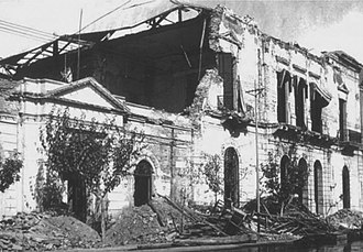 San Juan Province, Argentina - Scene following the 1944 earthquake