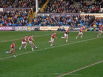 Wakefield Trinity - Wakefield Trinity playing Leeds in a friendly in 2014.