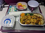 Thai Airways International in-flight meal - Chicken curry.jpg