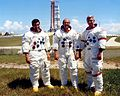 The Apollo 17 crew at pad 39-A on rollout day.jpg