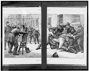 Prisoner - A scene in Newgate Prison, London
