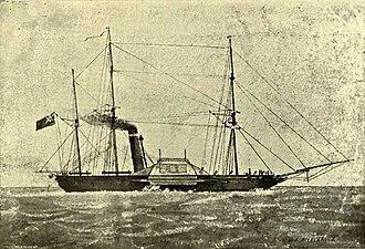 HMS Birkenhead (1845) - Image: The Birkenhead Troopship