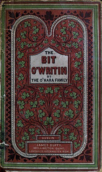 John Banim - 1865 cover of The Bit o' Writin by John and Michael Banim.