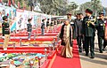The Chief Minister of Delhi, Smt. Sheila Dikshit inspecting the flag area, during her visit to DG, NCC Republic Day Parade Camp-2013, in New Delhi on January 08, 2013. The DG, NCC, Lt. Gen. P.S. Bhalla is also seen.jpg
