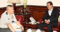 The Chief of Staff, Japan Ground Self Defence Force, General Toshiya Okabe calling on the Minister of State for Defence, Dr. Subhash Ramrao Bhamre, in New Delhi on April 12, 2017.jpg