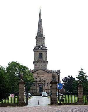 William Baker of Audlem - The Church of St. John in the Square, Wolverhampton. Baker was the main contractor1756-9.