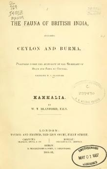 The Fauna of British India, including Ceylon and Burma (Mammalia).djvu