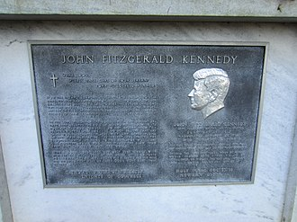 John Fitzgerald Kennedy Memorial (Portland, Oregon) - The memorial's plaque