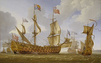 HMS Prince (1670) - Image: The HMS Prince Before the Wind