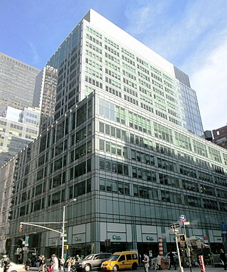 New York Hippodrome - The Hippodrome Building, built in 1951-52, at 1120 Avenue of the Americas (Sixth Avenue), designed by Kahn & Jacobs