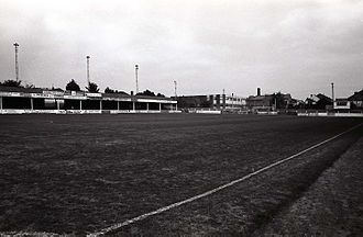 Yeovil Town F.C. - Yeovil's Huish ground in 1983.