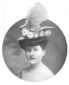The Illustrated Milliner, Volume 7, Issue 6, June 1906 - A Leghorn with high crown and elongated back brim.png