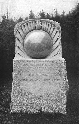 John Fiske (philosopher) - The John Fiske Monument, Petersham.