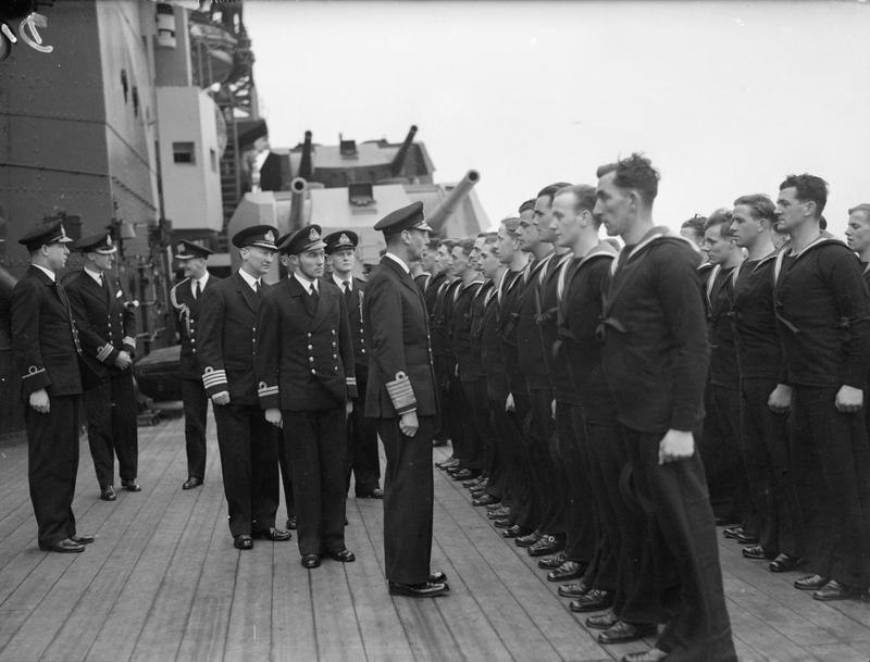 The King Pays 4-day Visit To the Home Fleet. 18 To 21 March 1943, at Scapa Flow, the King, Wearing the Uniform of An Admiral of the Fleet, Paid a 4-day Visit To the Home Fleet. A15117