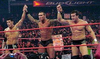 The Legacy (professional wrestling) - Left to right: Cody Rhodes, Randy Orton, and Ted DiBiase.