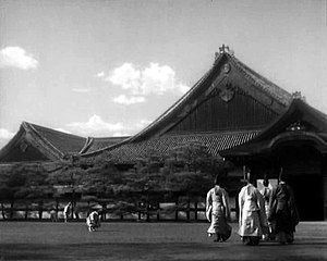 The Life of Oharu - A scene from the movie showing a daimyō palace in the Edo period