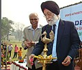 The Minister of State (Independent Charge) for Youth Affairs & Sports, Dr. M.S. Gill lighting the lamp at the inaugural function of the Swimming Pool Complex of the Sports Authority of India in Kolkata on January 23, 2009.jpg