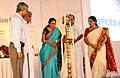 The Minister of State for Commerce & Industry (Independent Charge), Finance and Corporate Affairs, Smt. Nirmala Sitharaman lighting the lamp at the Spice Board function, in Kochi, Kerala. The Chief Minister of Kerala.jpg