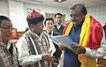 The Minister of State for Tribal Affairs, Shri Jaswantsinh Sumanbhai Bhabhor with the representatives of various Tribal bodies of Sikkim, at Gangtok, in Sikkim on October 25, 2018.JPG
