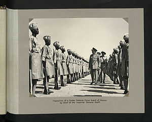 Sudan Defence Force - Undated photo of inspection of SDF honour guard by Chief of the Imperial General Staff